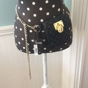 NWT Black Quilted Michael Kors Bum Bag.